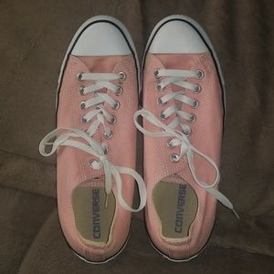 Pink and white Converse women's size 11